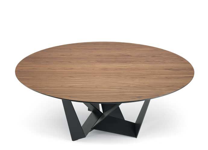 cattelan italia skorpio round wood dining table suite 22 interiors